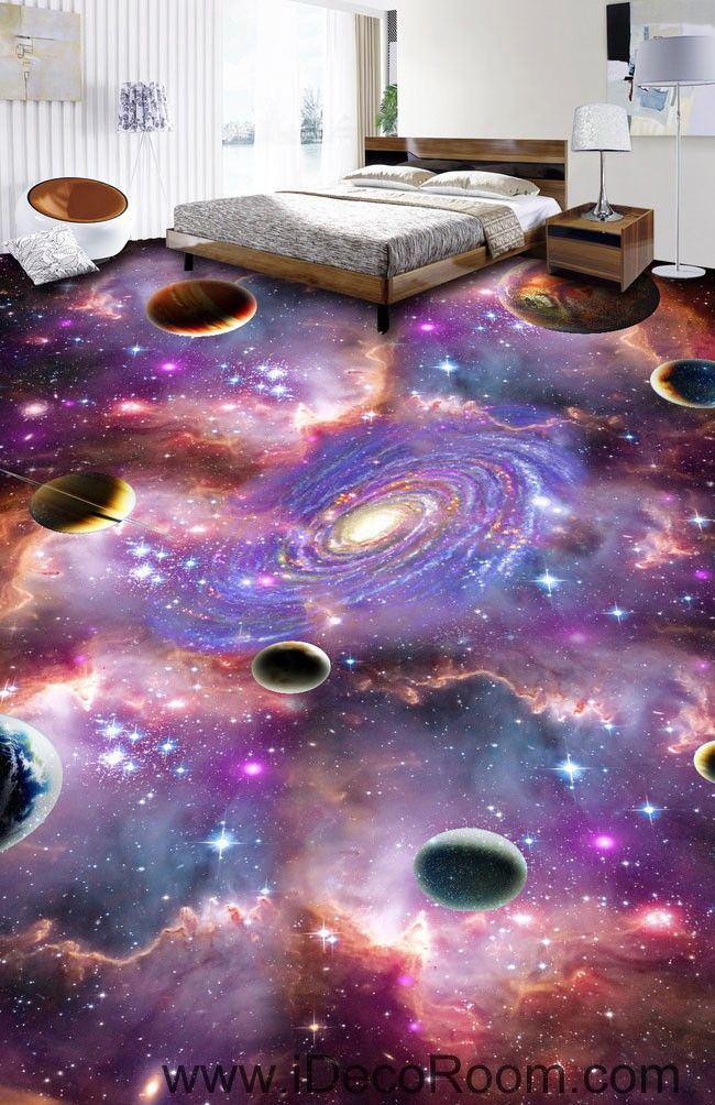 Universe Nebula Galaxy 00075 Floor Decals 3D