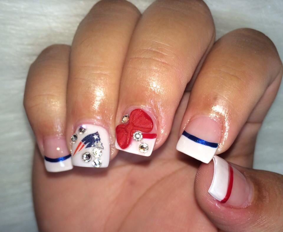 New England Patriots nails | Nails Nails Nails | Pinterest ...