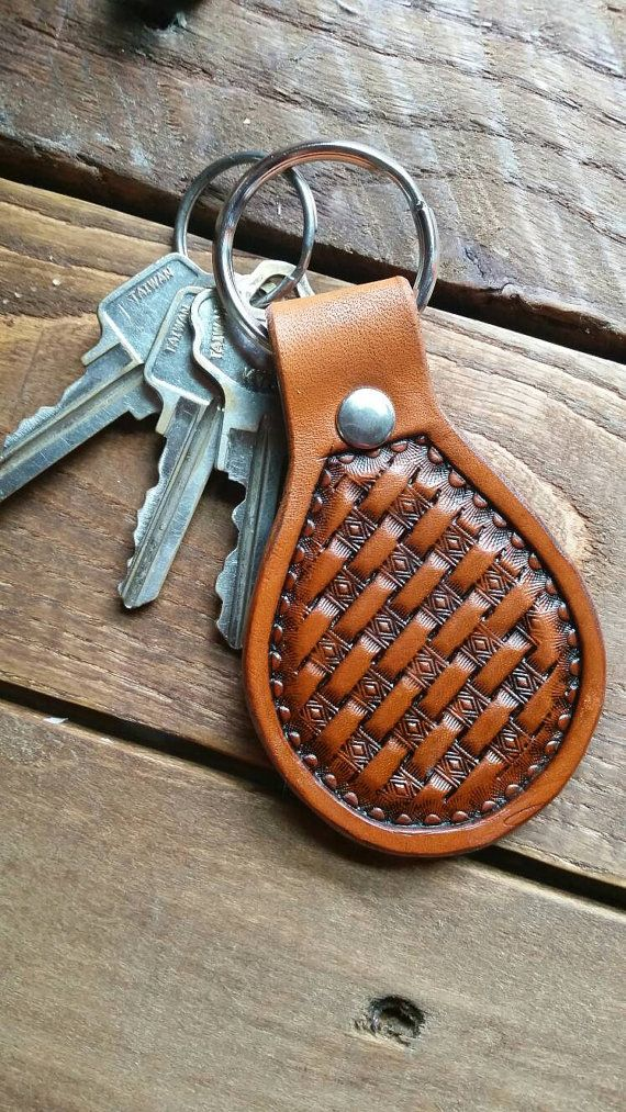 Basket weave key chain