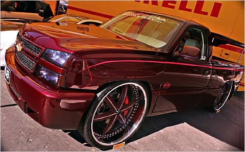 Big Rimmed Chevys Chevrolet Silverado With 30 Inch Wheels At The