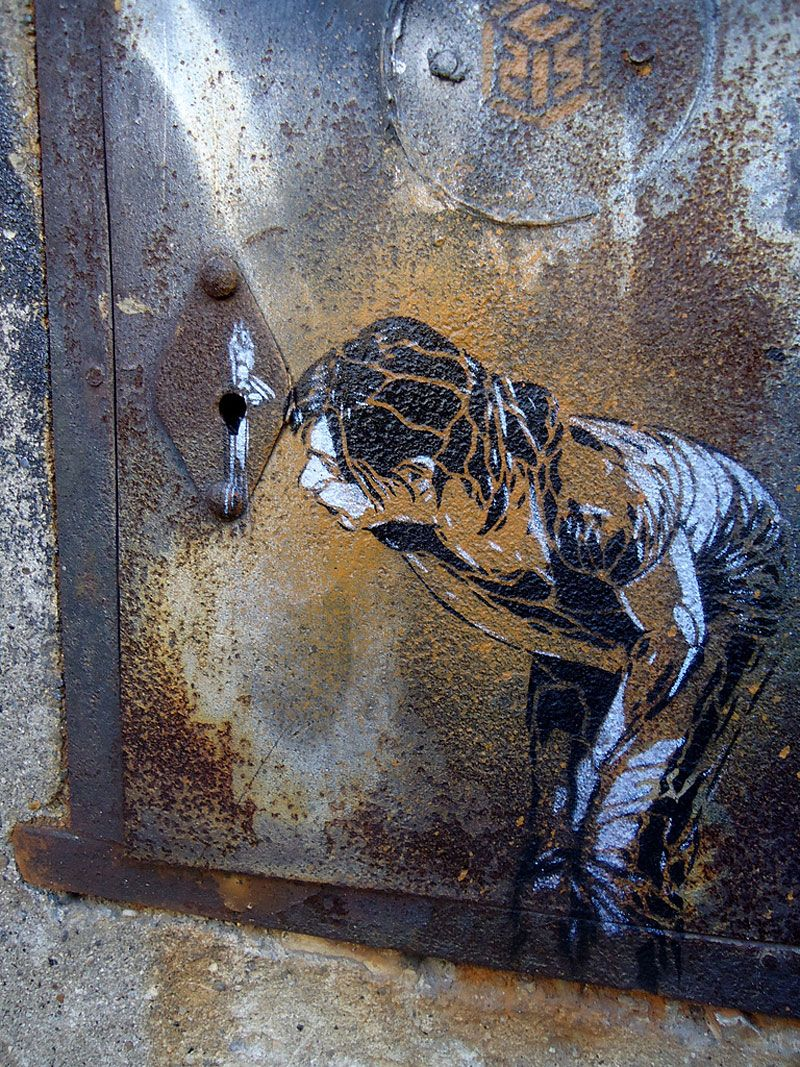 French artist Christian Guémy has been an active street artist for over 20 years.