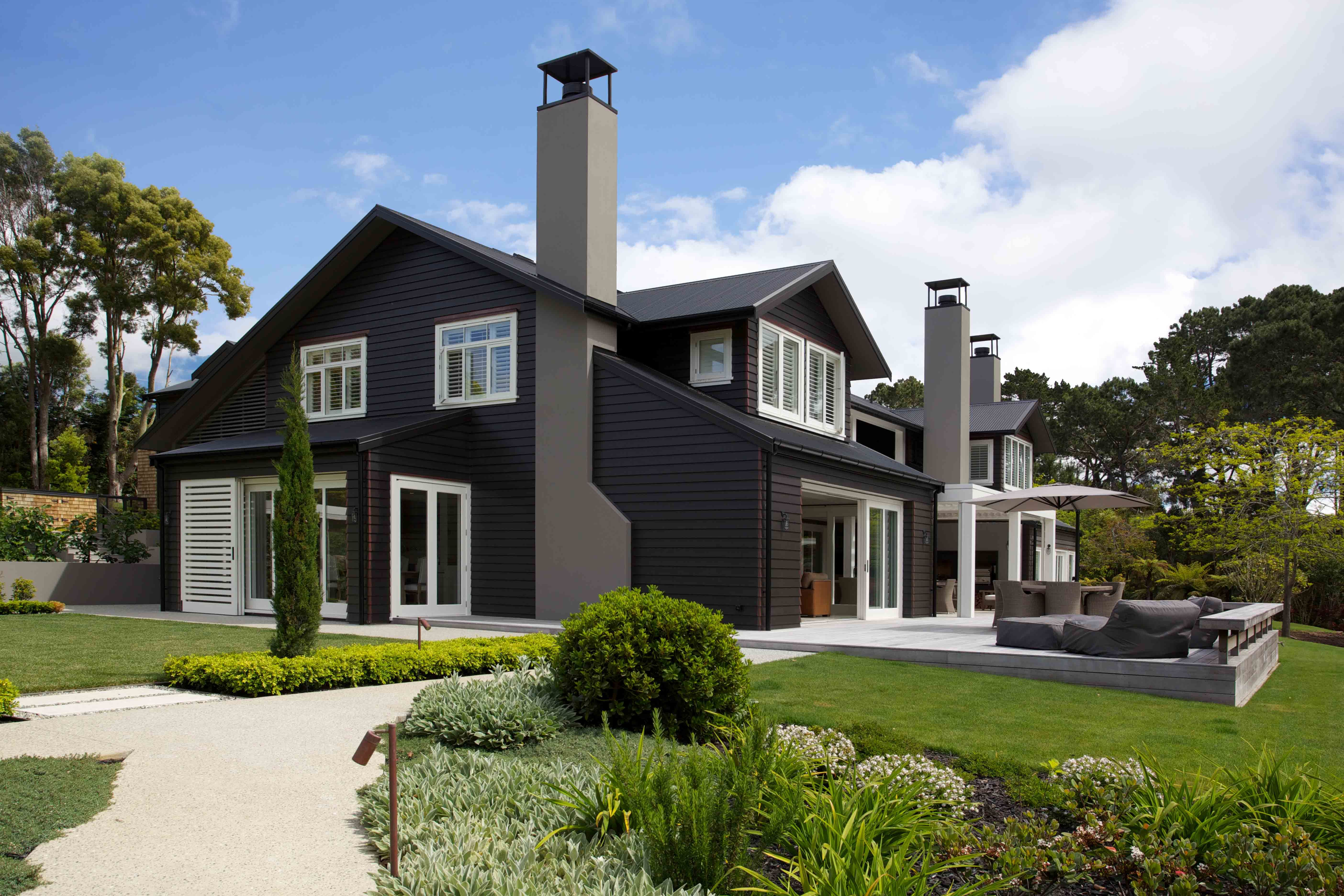 Colorsteel 174 Roofing Auckland White Exterior Houses