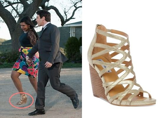 The Office series finale: Kelly's (Mindy Kaling) Steven Madden Tricklee  Wedge Sandals in