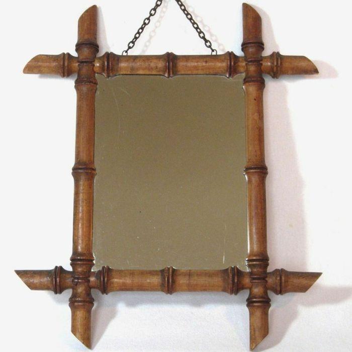 Great deko ideen deko aus bambus wanddeko windspiel spiegelrahmen