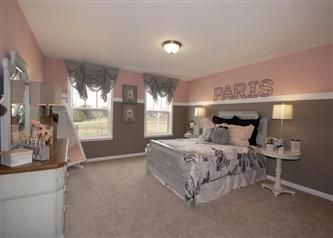 Stonechase Bloomington In New Homes In Bloomington In Paris Themed Bedroom Home Paris Girl Room
