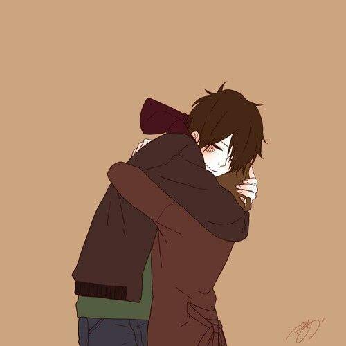 #love #couples #anime #boy #girl #hug #kiss
