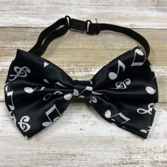 Photo of Black Music Note Bow-Tie / Wedding Bow-Tie / Adults Bow-Tie/ Photo Shoot School Bow-Tie /