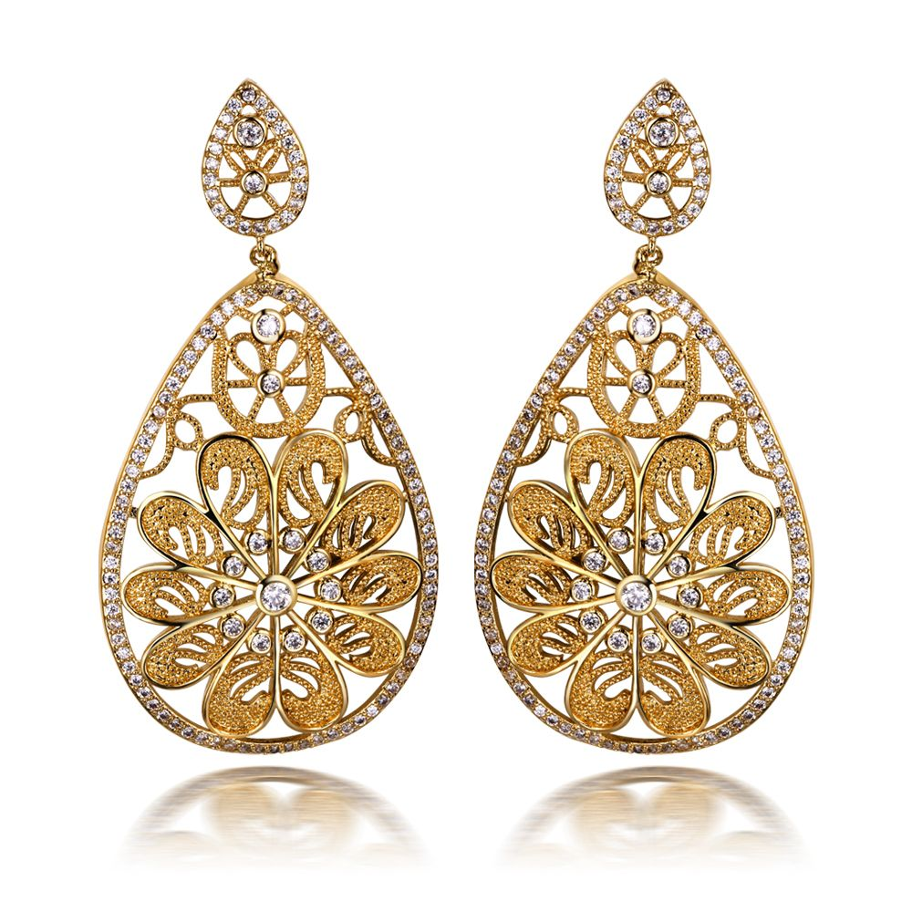 Cheap Women Earrings Long Buy Quality Directly From China Fashion Suppliers Flower Drop Earring Copper