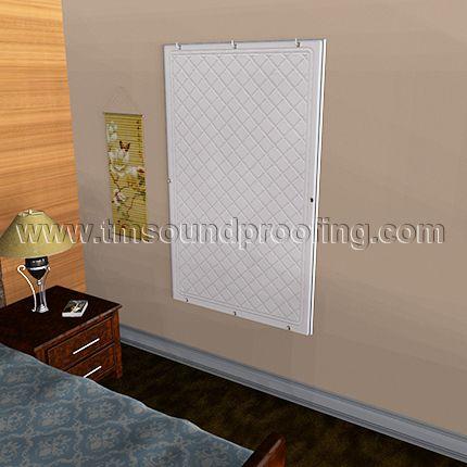 Easy to apply Window Sound Barrier Curtain (White Vinyl