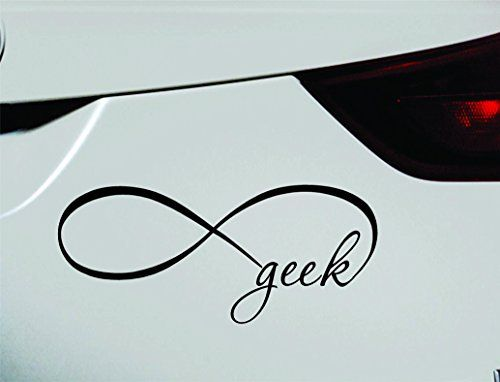 Infinity Geek Symbol Decal Funny Car Truck Sticker Window Black
