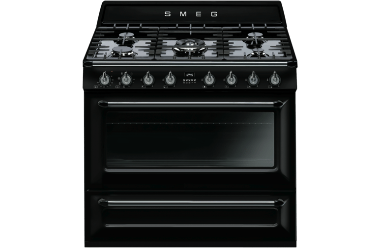 Smeg TRA90BL 90cm Dual Fuel Upright Cooker at The Good Guys