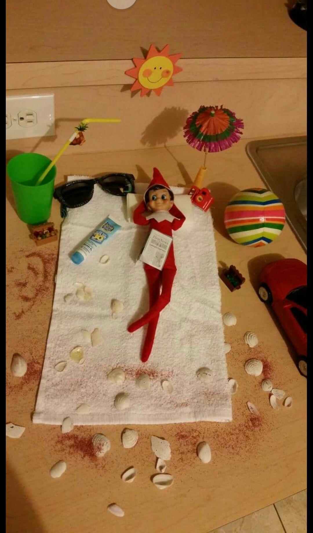 Sebastian's elf visit to Fl. ;)