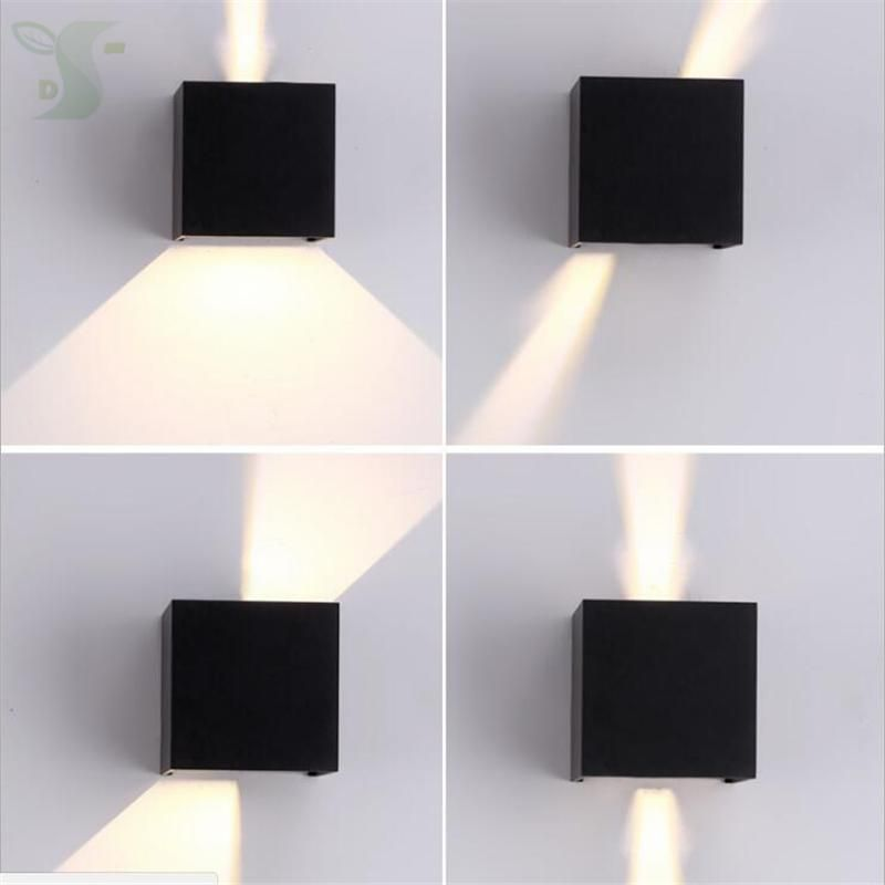 Ip65 7w Led Wall Lamp Cube Adjule Surface Mounted Outdoor Lighting Light