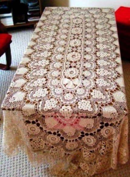 Armario Com Espelho Para Banheiro Balaroti ~ Toalha de mesa em croch u00ea de linha Toalhinhas de croch u00ea