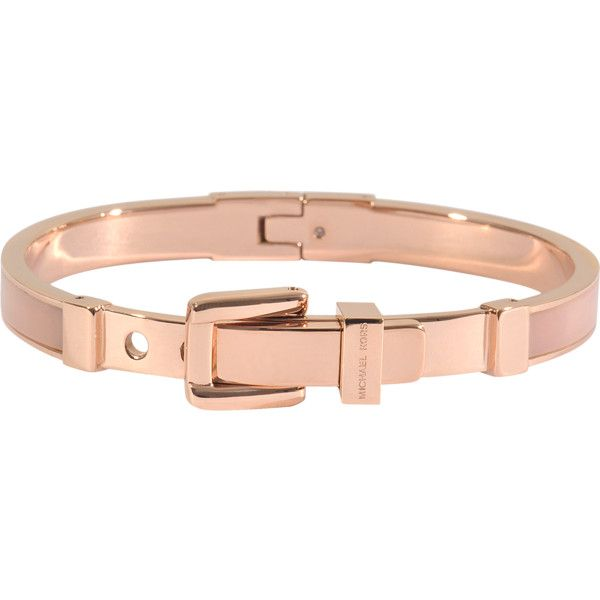 Michael Kors Armband Rose Gold & Blush €115 ❤ liked on Polyvore