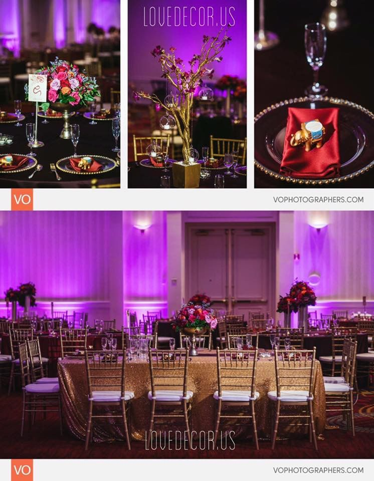Indian Wedding Decor Massachusetts New Hampshire Decorator Backdrop Reception Centerpieces Floral Tree Sequin India Wedding Wedding Decorations Decor