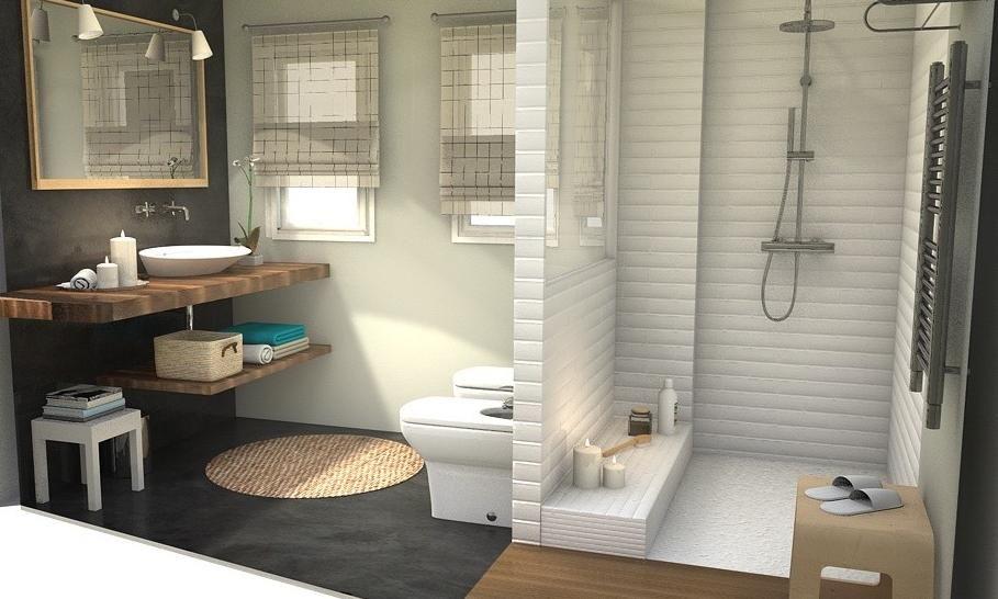 Ba o estilo n rdico proyecto 3d by virlova style design deco portfolio pinterest ba os - Virlova style ...