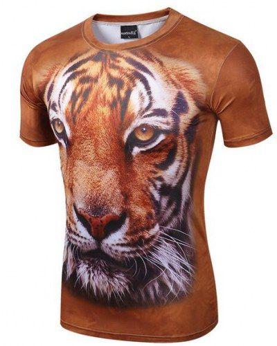 d8d7ce04cbb6 3D tiger t shirt for men animal face tshirts xxxl   3D tiger t ...