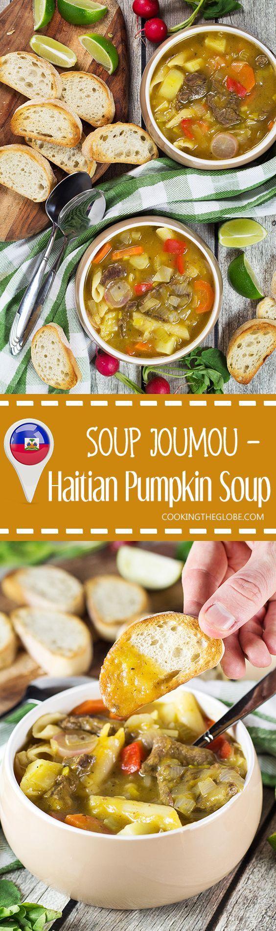 soup joumou  haitian new year's soup  recipe  haitian