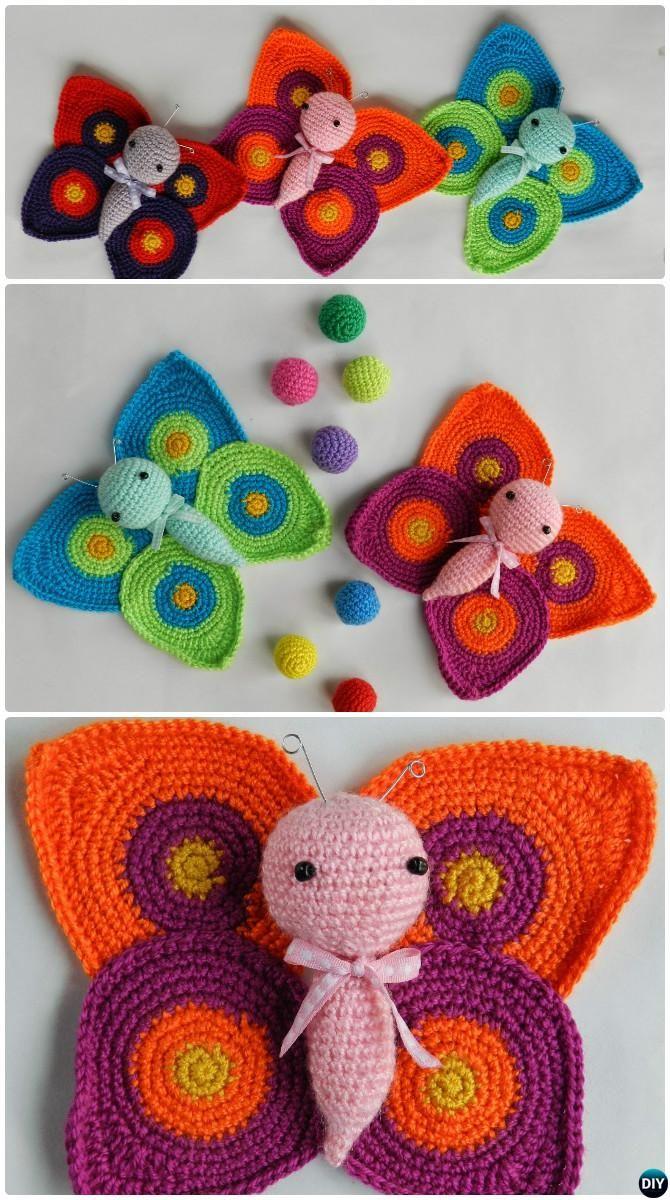 Amigurumi Crochet Butterfly Free Pattern #Crochet | Crochet and ...