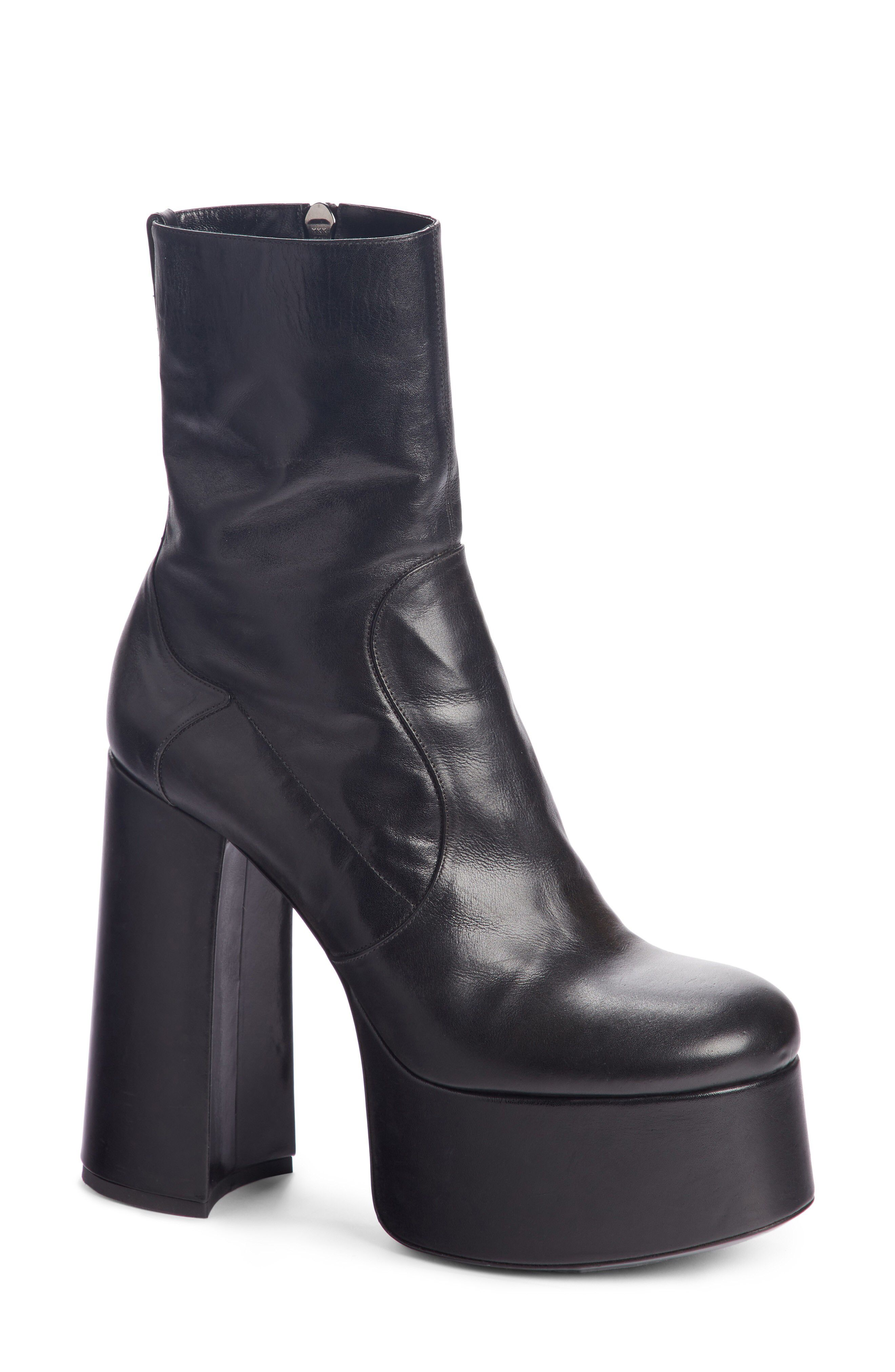 e3bdb9cef4c Saint Laurent Billy Kangaroo Leather Platform Boot available at  Nordstrom