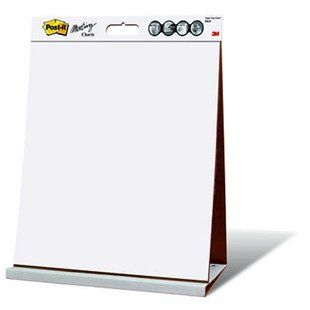 3m post it super sticky table top meeting flip chart easel white
