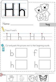 Letter H Worksheets Cut And Paste - letter h worksheets cut ...