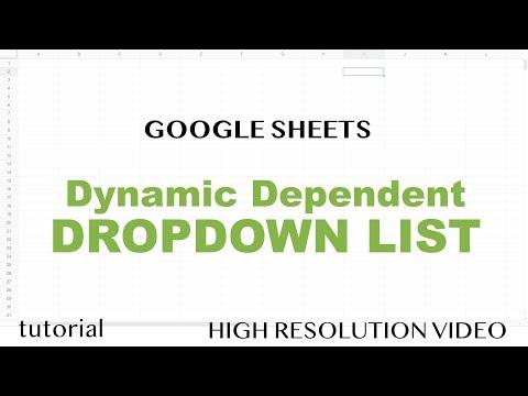 292 Google Sheets Drop Down List 2 Dependent Dropdown Lists Youtube Google Sheets Data Validation Google Spreadsheet