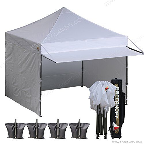 Canopies Gazebos And Pergolas Abccanopy 10x10 Ez Pop Up Canopy With Awnings3pcs Solid Walls1pc Door Wall4 Weight Bag1rol Pop Up Canopy Tent Canopy Tent Tent