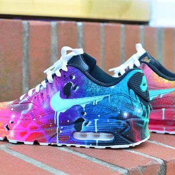 cheap uk nike air max 90 candy drip navy pink purple custom mens