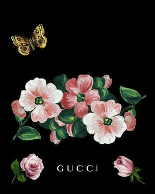 Gucci painting pink flowers butterfly gucci pinterest gucci gucci painting pink flowers butterfly mightylinksfo