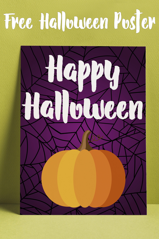 Free Happy Halloween Printable Poster Halloween poster