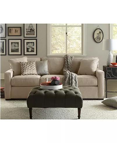 "Furniture Radley 86"" Fabric Sofa, Created for Macy's"