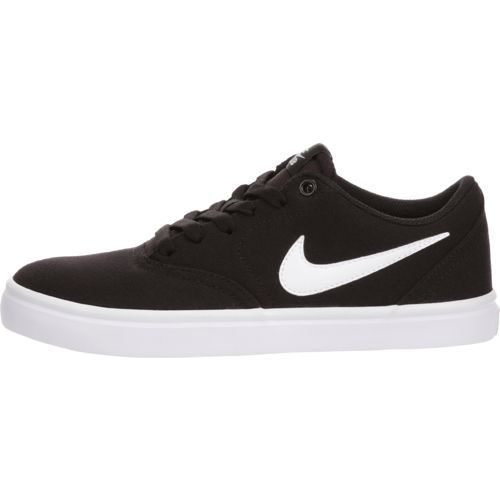 uk availability 6f59c d2b70 Nike Women s Check Solarsoft Canvas Skateboarding Shoes (Black White Pure  Platinum, Size 8.5) - Women s Athletic Lifestyle Shoes at Academy Sports
