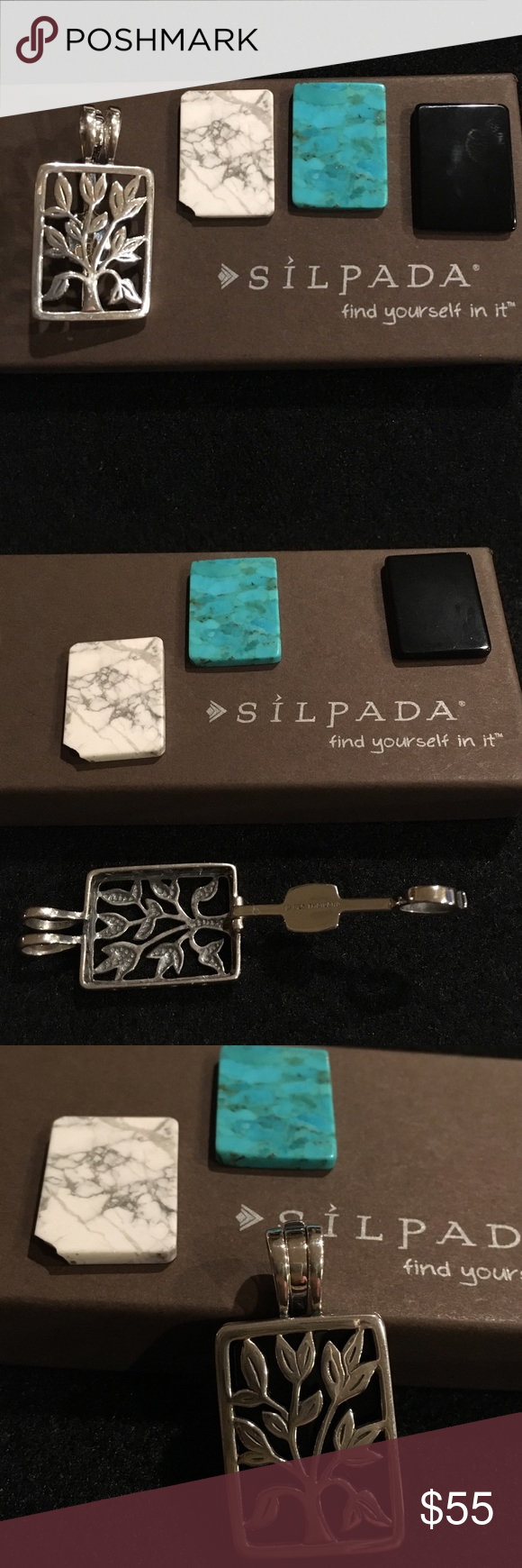 SILPADA PENDANT Silpada tree pendant. Live,laugh,love on one side. Changeable (3) Silpada Jewelry