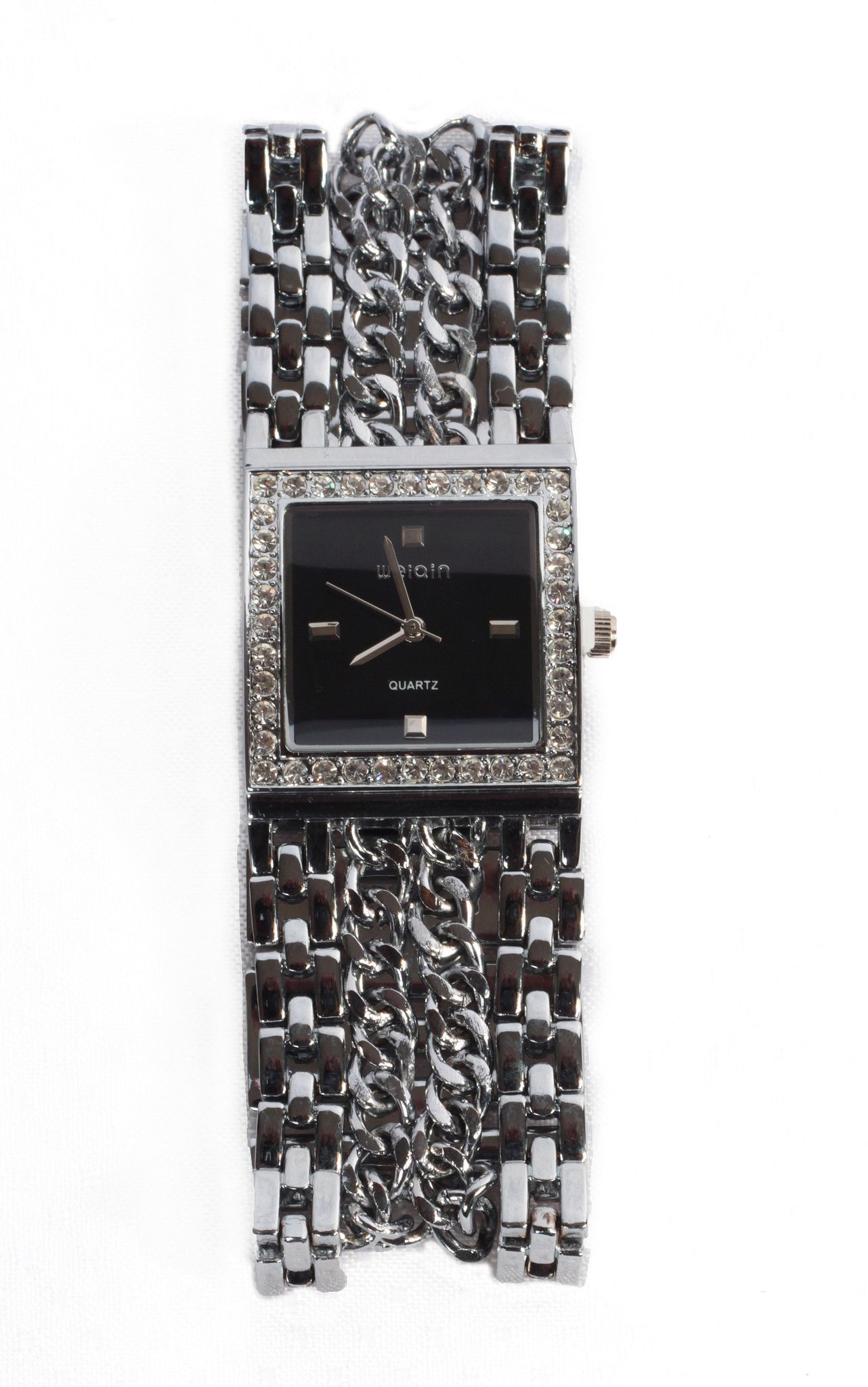 Silver Tone Multi-Strand Watch