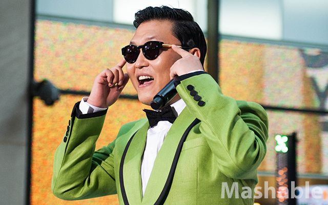 """YouTube sensation Psy performed his song """"Gangnam Style"""" at the TODAY show on Friday morning. Mashable has behind-the-scenes photo and video."""