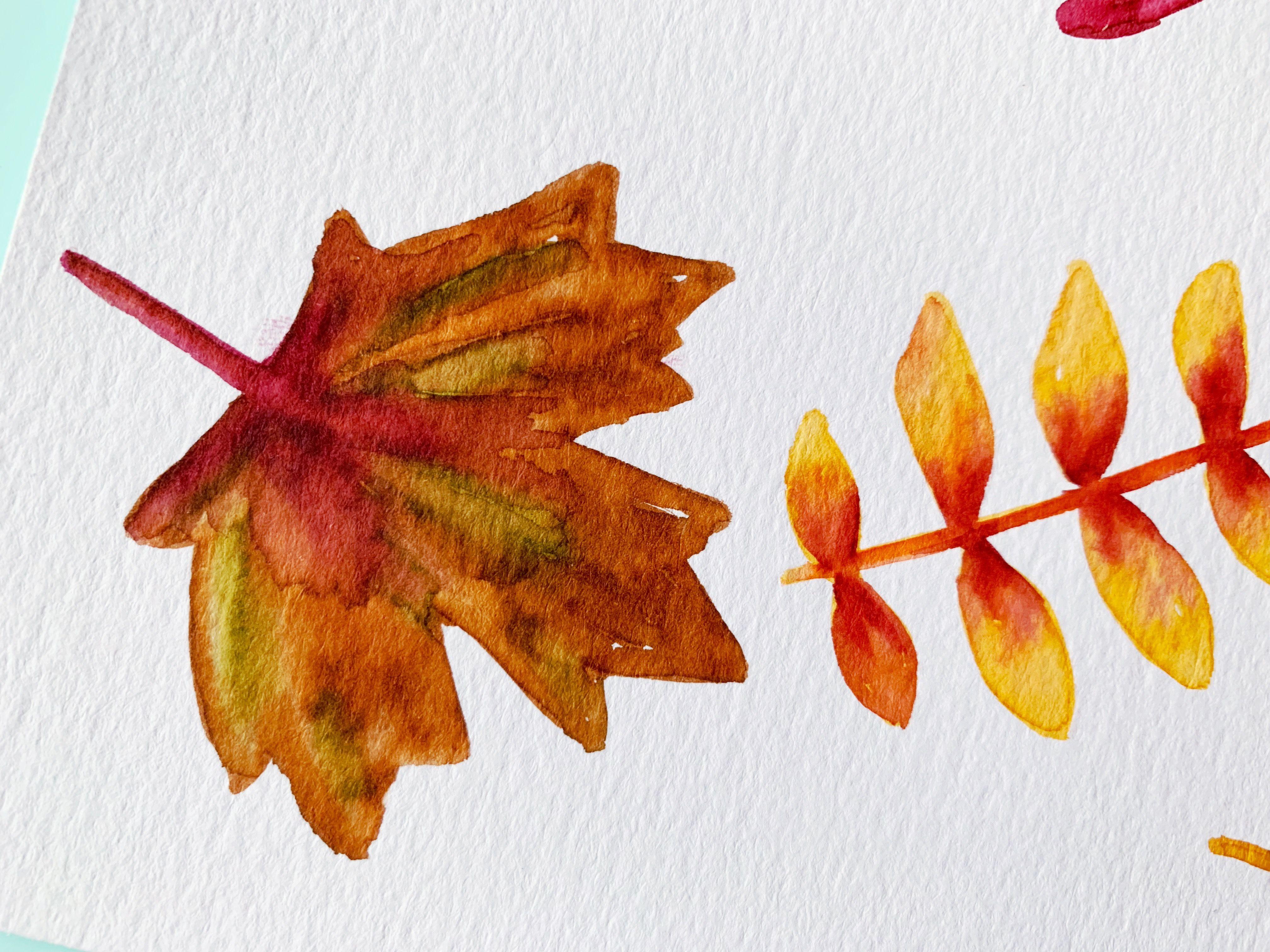 Watercolour Fall Leaves Tutorial Watercolor Leaves Watercolor