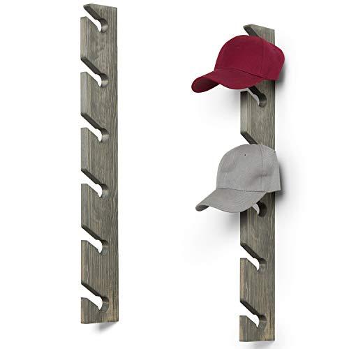 Mygift Set Of 2 Vintage Gray Wood 6 Slot Baseball Cap Display Racks Best Offer Storagevat Com In 2020 Baseball Caps Display Cap Display Grey Wood