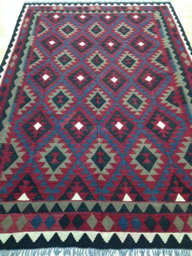 Xl Large Handmade Afghan Tribal Rug Kilim 100 Wool Geometric 201x302cm 60 Off