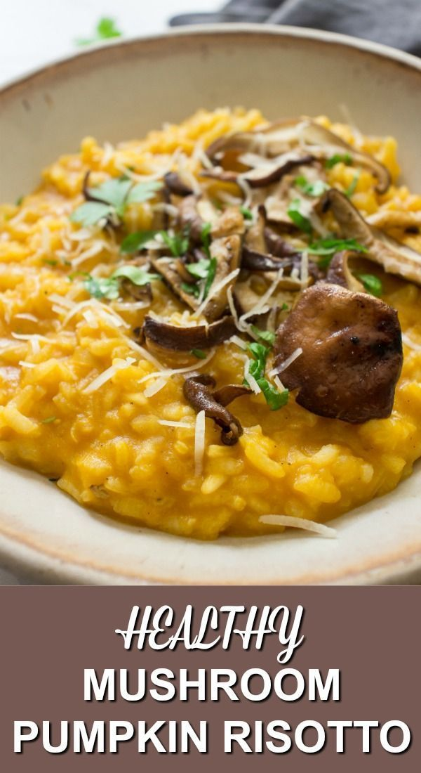 Mushroom And Pumpkin Risotto images