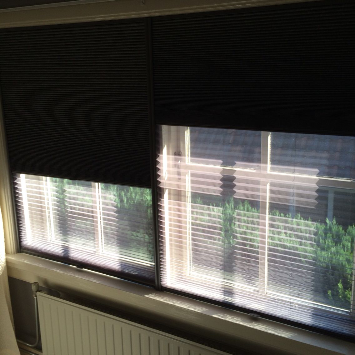 Verduisterende Dupli Plisse Met Plisse Hor Van Bcraamdecoratie Slaapkamer Raambekleding Gordijnen Slaapkamer Ideeen