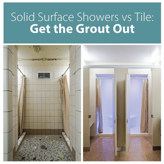 Solid Surface Showers Vs Tile Get The Grout Out When It Comes