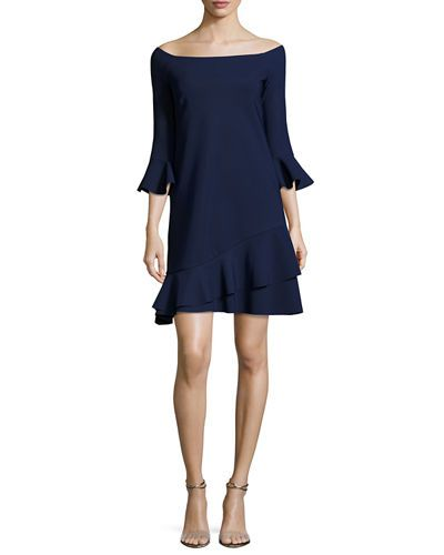 cheap for discount ec85b 95461 CHIARA BONI LA PETITE ROBE MIREA OFF-THE-SHOULDER FLOUNCE ...