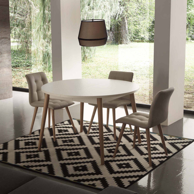 Tavolo allungabile Aramis nobilitato bianco Il tavolo