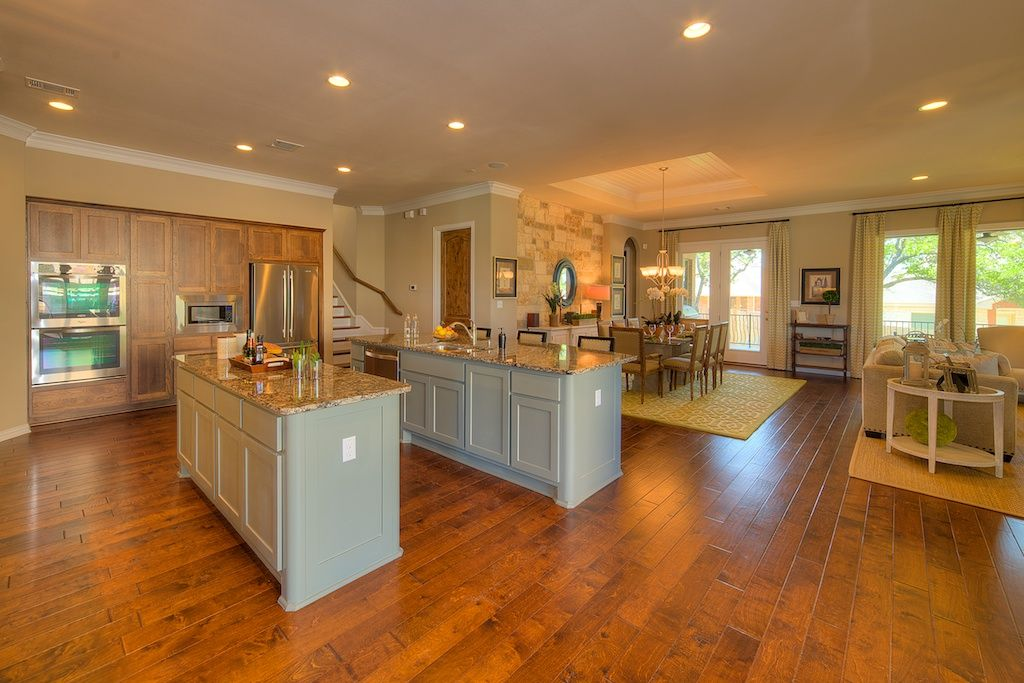 open concept family room kitchen wilshire homes com austin new