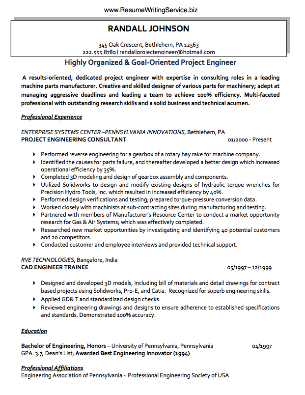 Use A Project Engineer Resume Sample Here Engineering Resume Resume Writing Services Resume