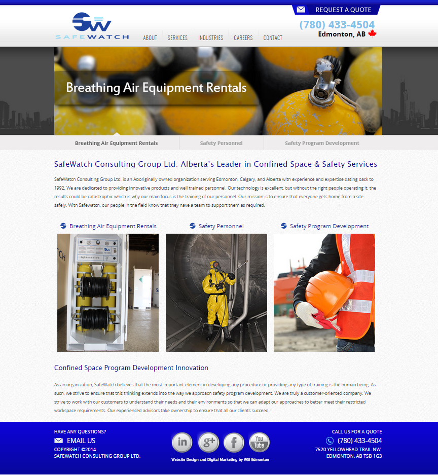 Confined Space specialists, SafeWatch is a safety services