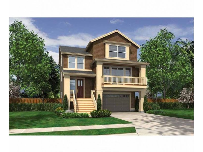 Craftsman Style House Plan 4 Beds 3 5 Baths 3427 Sq Ft Plan 132 559 Craftsman House Plans Narrow Lot House Plans Craftsman Style House Plans