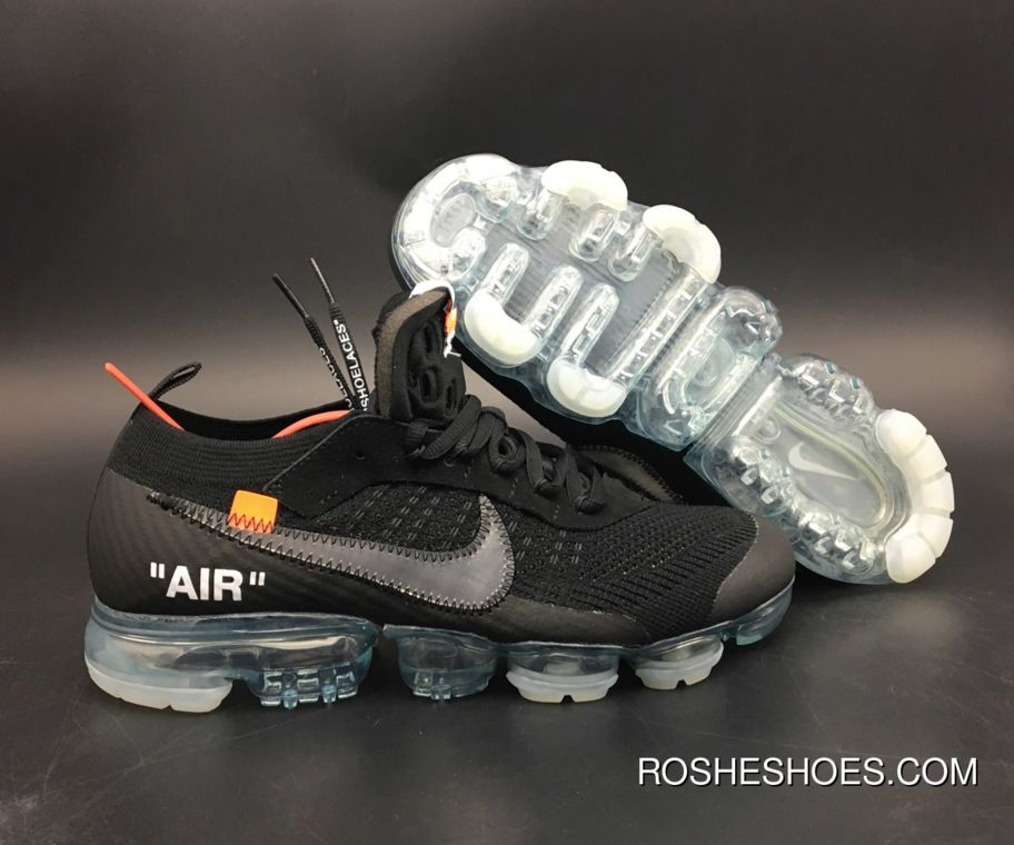 best loved a1891 35921 New Style Off-White X Nike Air Vapormax Black Total Crimson-Clear Aa3831-002